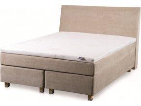Kontinentální postel Tropico (čelo cube, nožky family buk, rozměr 160x200)